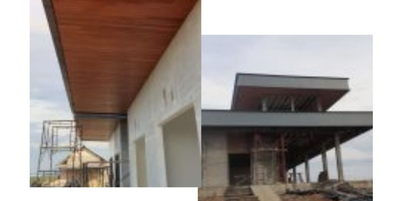pemasangan lumber ceiling di Bangka