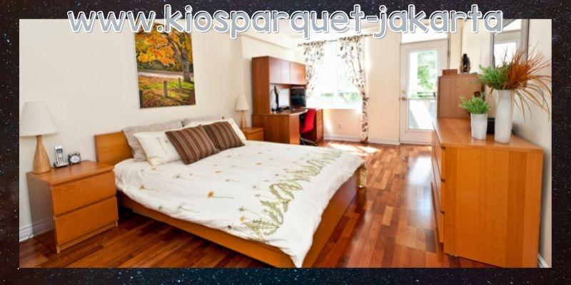 lantai terbaik untuk kamar tidur - parket jati