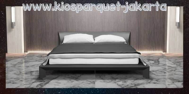 lantai terbaik untuk kamar tidur - lantai marmer