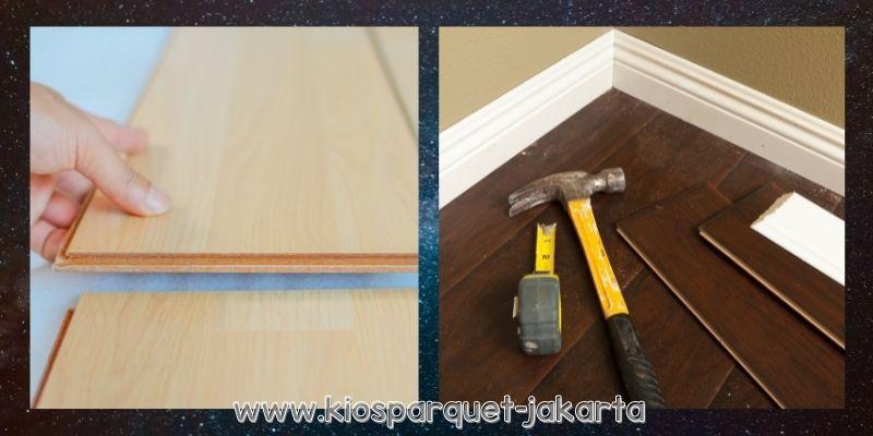 jenis lantai terbaik untuk ruang tamu - lantai laminate
