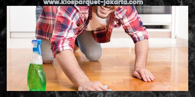 cara membersihkan lantai vinyl
