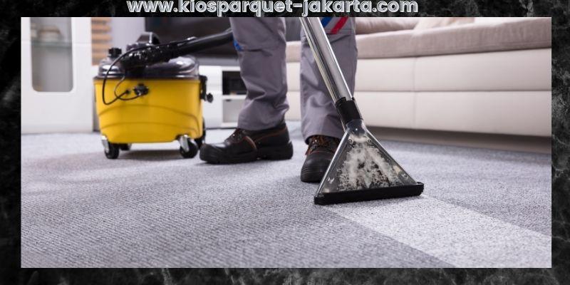 cara membersihkan lantai karpet