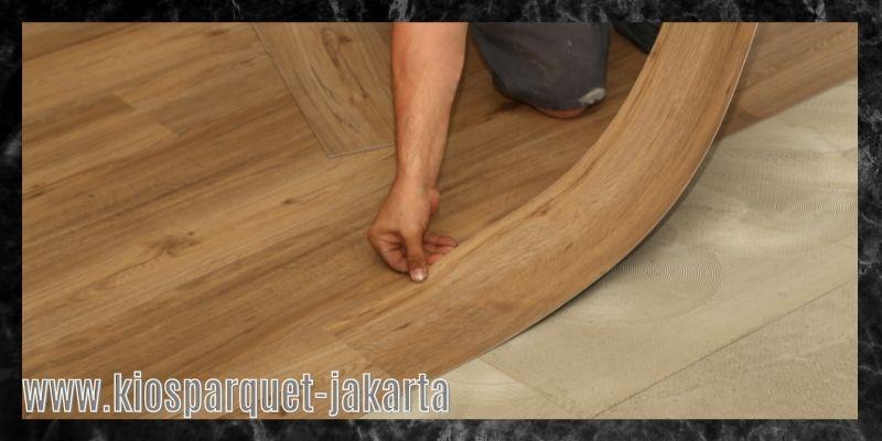 material terbaik untuk lapangan badminton - lantai kayu sintetis vinyl
