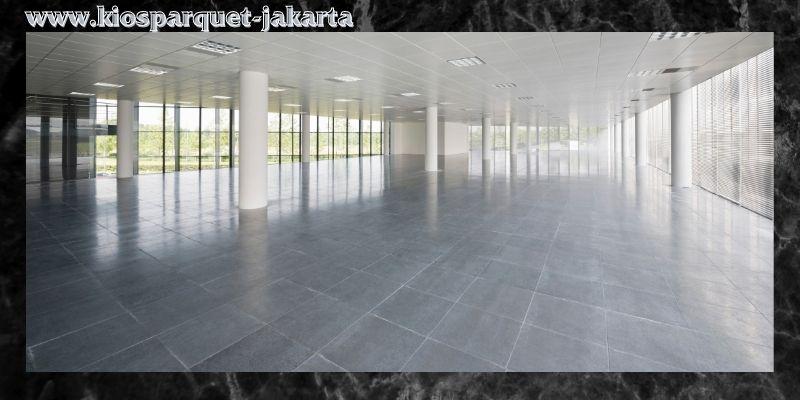 lantai terbaik untuk kantor - lantai keramik