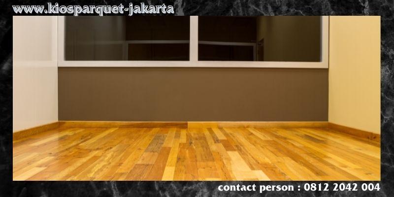 lantai terbaik untuk kantor - parket solid jati