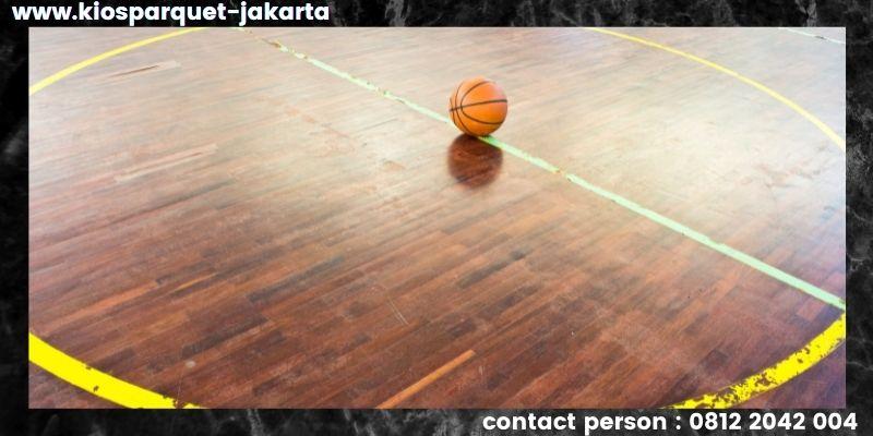 material lantai untuk lapangan basket - lantai kayu solid