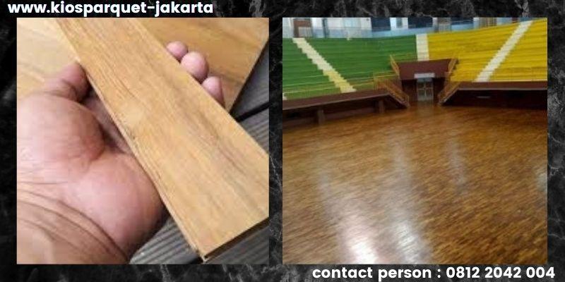material lantai untuk lapangan basket - lantai kayu solid jati