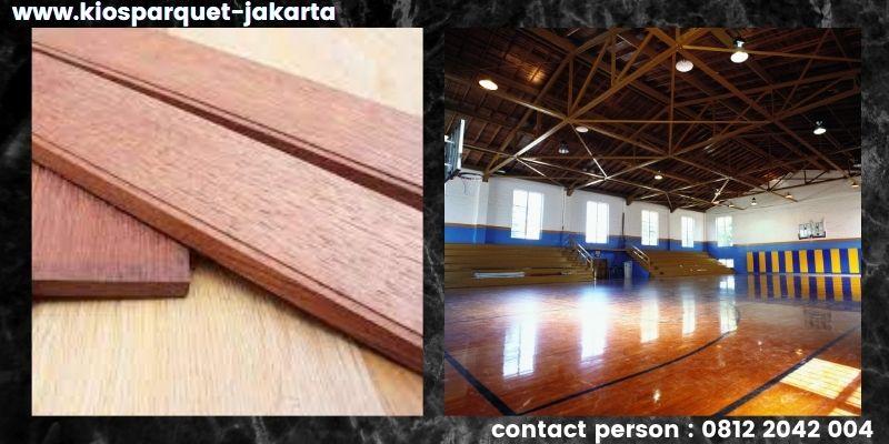 material lantai untuk lapangan basket - lantai kayu solid merbau