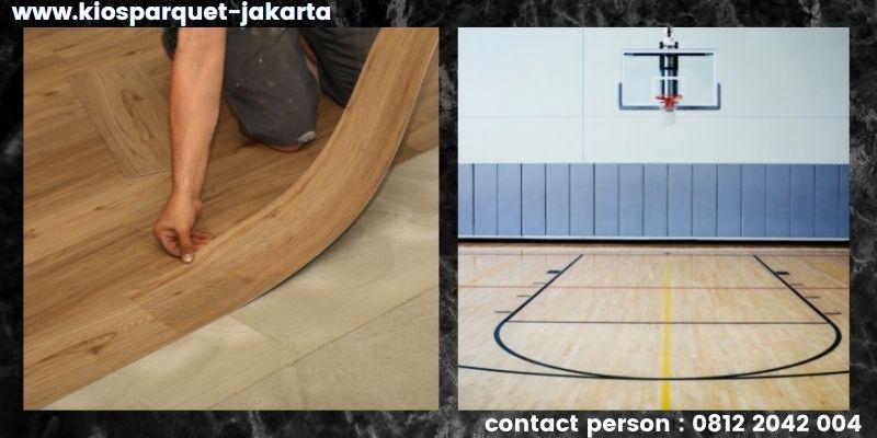 material lantai untuk lapangan basket - lantai vinyl