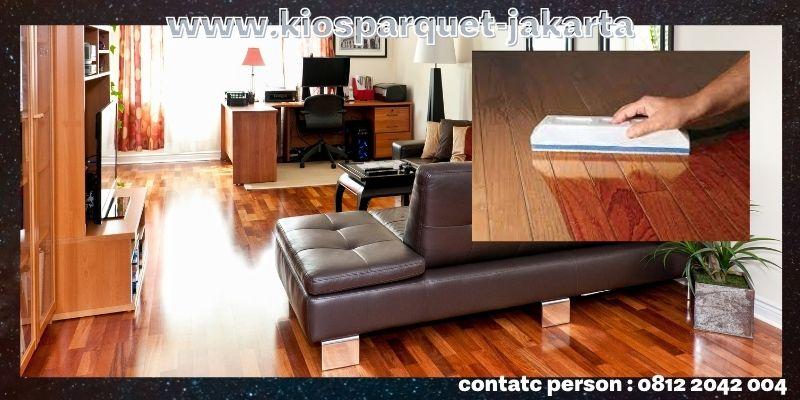Jenis-jenis Lantai Kayu Tempel Terbaik - lantai kayu solid coating