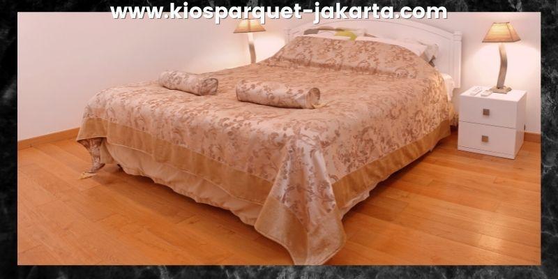 Tips Mendekorasi Kamar Tidur - gunakan lantai kayu solid merbau