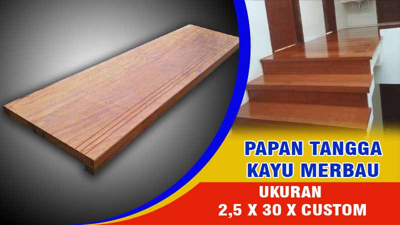 tangga minimalis kayu merbau